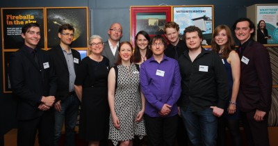 Desert Fireball Network team at our app launch, held at Scitech in October 2013